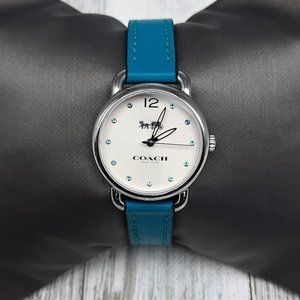 Coach Women's Delancey Blue Leather Strap Watch
